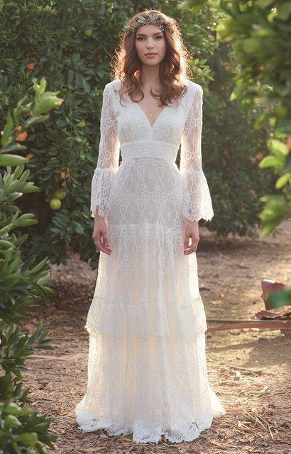 18 Gaun Pengantin Bergaya Bohemian yang Cantik